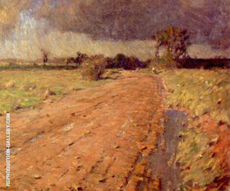 Red Shale Road Painting By William Langson Lathrop - Reproduction Gallery