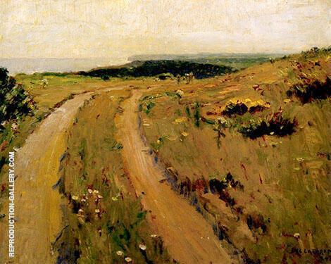 Road Along The Bluff Painting By William Langson Lathrop