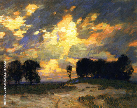 The Bonfire Painting By William Langson Lathrop - Reproduction Gallery