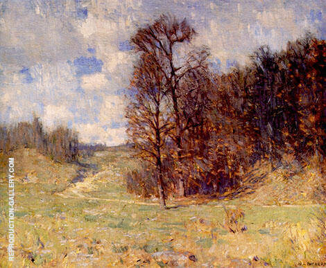 Woods End Painting By William Langson Lathrop - Reproduction Gallery
