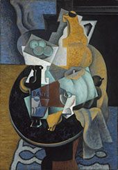 Fruit and a Jug on a Table 1916 By Jean Metzinger