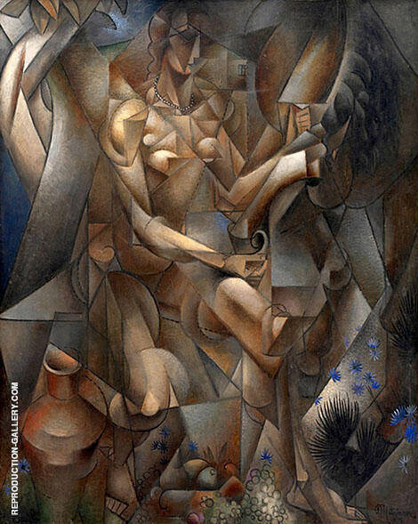 La Femme au Cheval The Rider Painting By Jean Metzinger