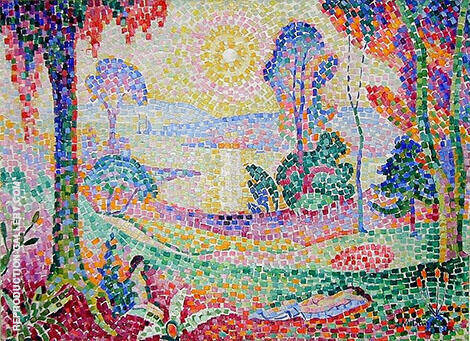 Landscape 1906 Painting By Jean Metzinger - Reproduction Gallery