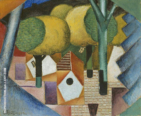 Landscape 1912 Painting By Jean Metzinger - Reproduction Gallery