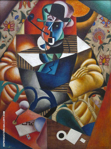 Man with a Pipe c1913 Painting By Jean Metzinger - Reproduction Gallery