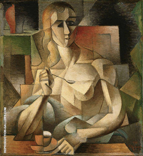 Tea Time 1911 Painting By Jean Metzinger - Reproduction Gallery