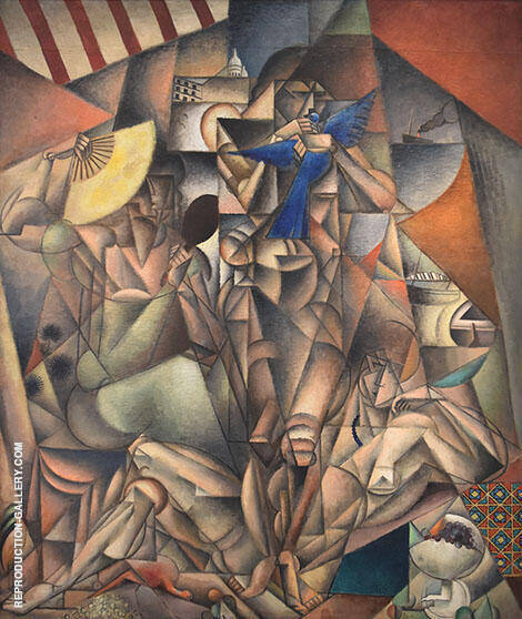 The Blue Bird Painting By Jean Metzinger - Reproduction Gallery