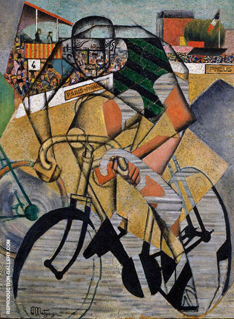 The Cycle Race Track 1912 Painting By Jean Metzinger