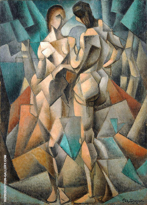 Two Nudes Two Women 1910 By Jean Metzinger