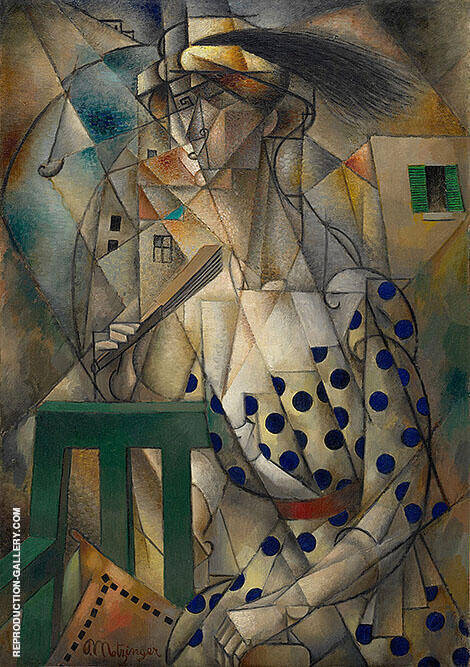 Woman with a Fan 1912 By Jean Metzinger