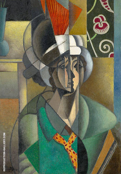 Woman with a Fan 1913 By Jean Metzinger