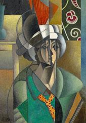 Woman with a Fan 1913 By Jean Metzinger