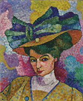 Woman with a Hat 1906 By Jean Metzinger