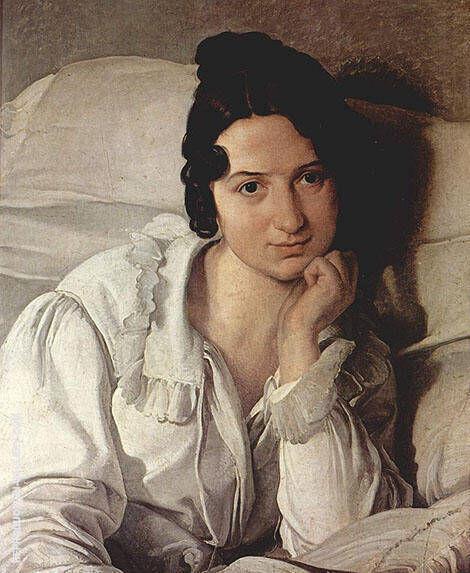 Carolina Zuccbi 1825 By Francesco Hayez