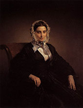 Portrait of Teresa Barri Stampa 1849 By Francesco Hayez