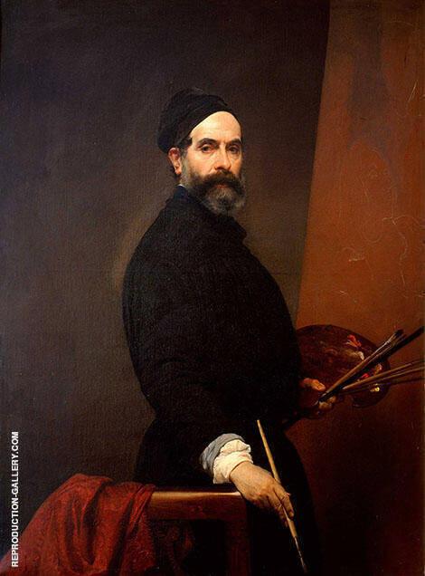 Self Portrait at 57 1848 By Francesco Hayez