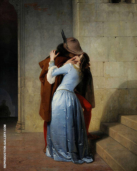 The Kiss 1859 By Francesco Hayez
