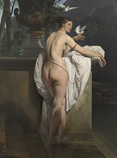 Venus Playing with Two Doves By Francesco Hayez