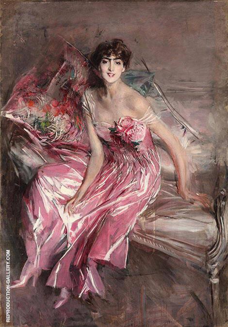 La Signora in Rosa By Giovanni Boldini
