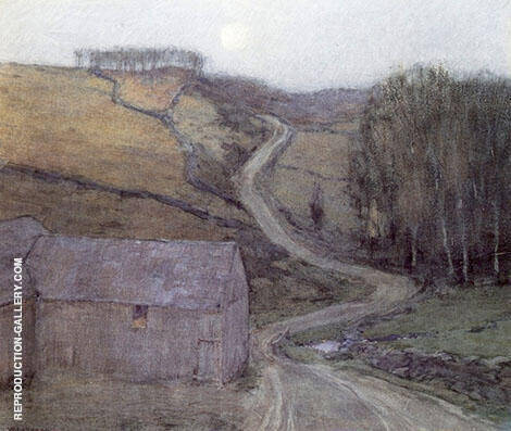 Country Road Near Solebury Painting By William Langson Lathrop