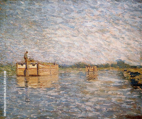 Morning on The Canal Painting By William Langson Lathrop