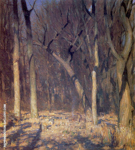 The Forest Painting By William Langson Lathrop - Reproduction Gallery