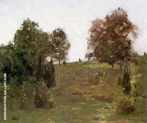 The Old Pasture Swale Painting By William Langson Lathrop