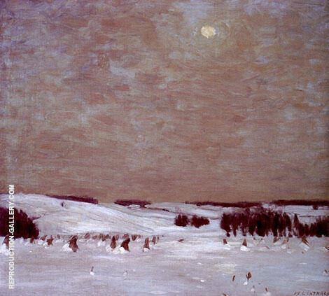 The Winter Moon Painting By William Langson Lathrop - Reproduction Gallery