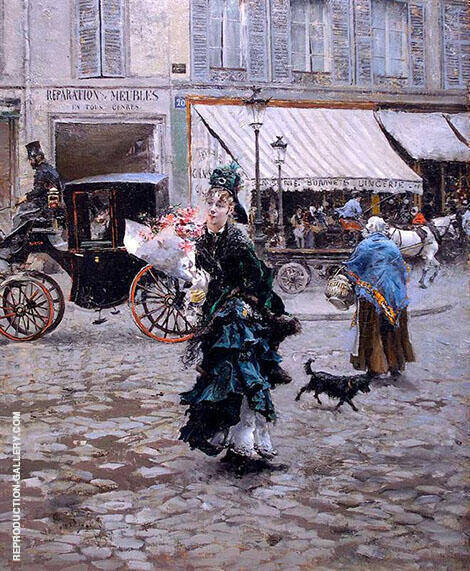 Crossing The Street 1875 By Giovanni Boldini