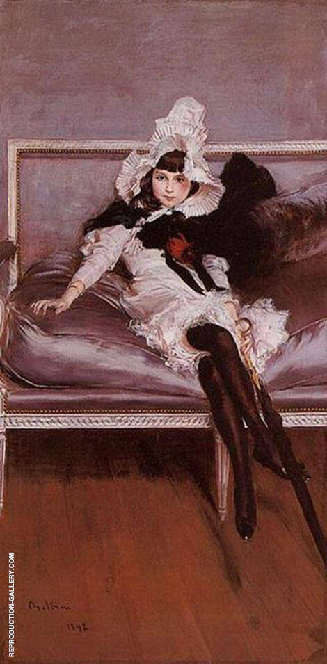 Giovinetta Errazuriz Painting By Giovanni Boldini - Reproduction Gallery