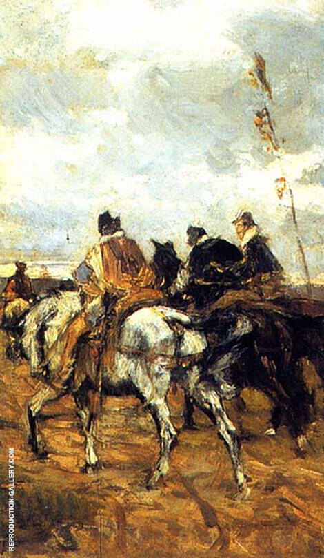 Horses and Knights Painting By Giovanni Boldini - Reproduction Gallery