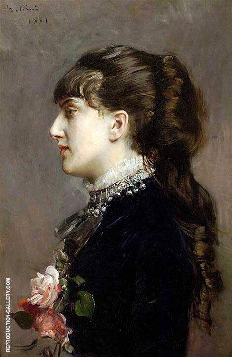 Madame Leclanche 1881 By Giovanni Boldini