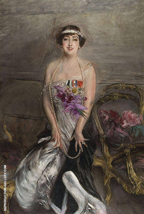 Madame Michelham Painting By Giovanni Boldini - Reproduction Gallery