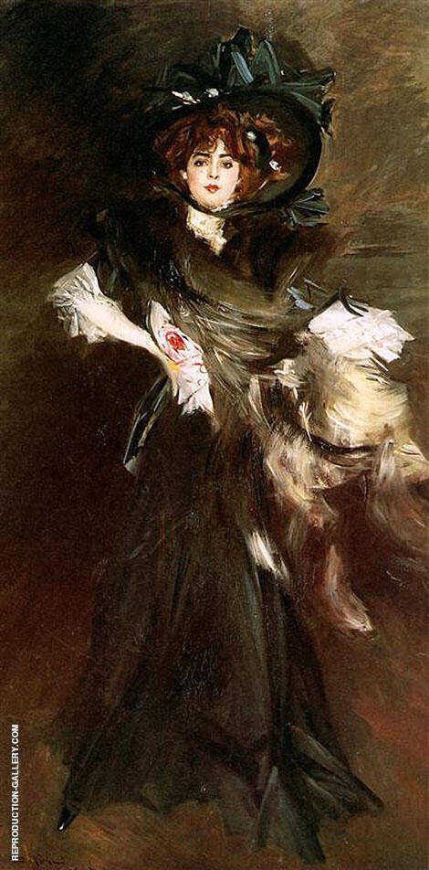 Mademoiselle Lanthelme 1907 Painting By Giovanni Boldini