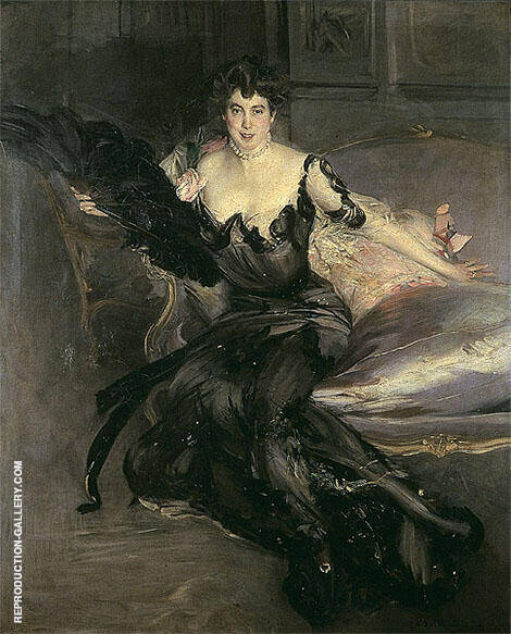 Portrait of a Lady Mrs Lionel Phillips 1903 By Giovanni Boldini