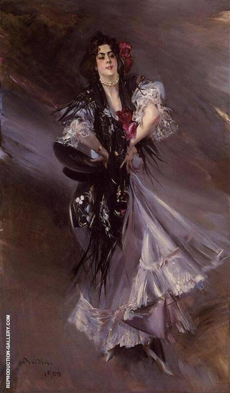 Portrait of Anita de la Ferie The Spanish Dancer 1900 By Giovanni Boldini