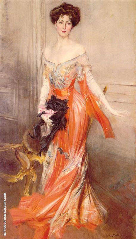 Portrait of Elizabeth Wharton Drexel 1905 Painting By Giovanni Boldini