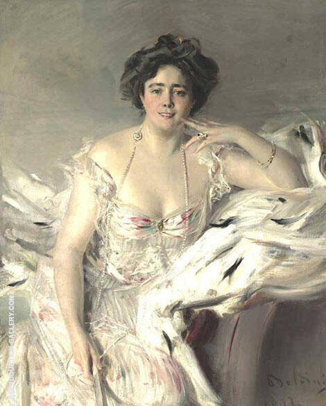 Portrait of Lady Nanne Schrader 1903 Painting By Giovanni Boldini