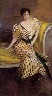 Portrait of Madame Josephina Alvear de Errazuriz 1892 By Giovanni Boldini