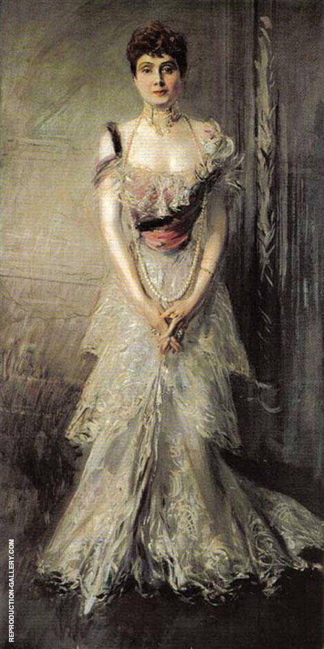 Portrait of Maria Eulalia of Spain 1898 By Giovanni Boldini