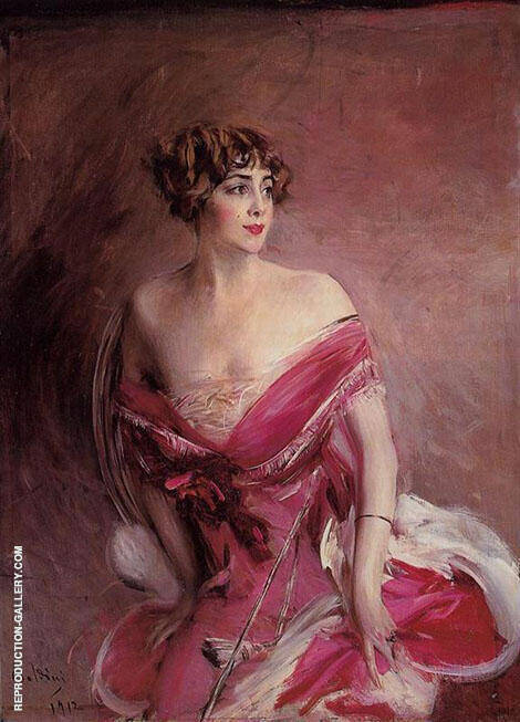 Portrait of Mlle de Gillespie la Dame de Biarritz 1912 By Giovanni Boldini