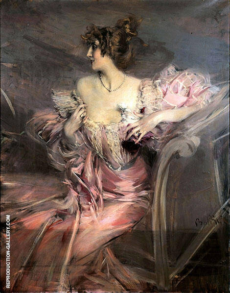 Portrait of The Actress Marthe de Florian By Giovanni Boldini