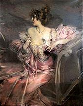 Portrait of The Actress Marthe de Florian By Giovanni Boldini