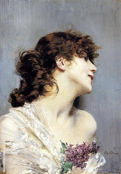 Profile of a Young Woman Painting By Giovanni Boldini