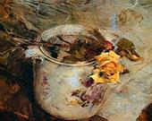 Rose in Vase By Giovanni Boldini