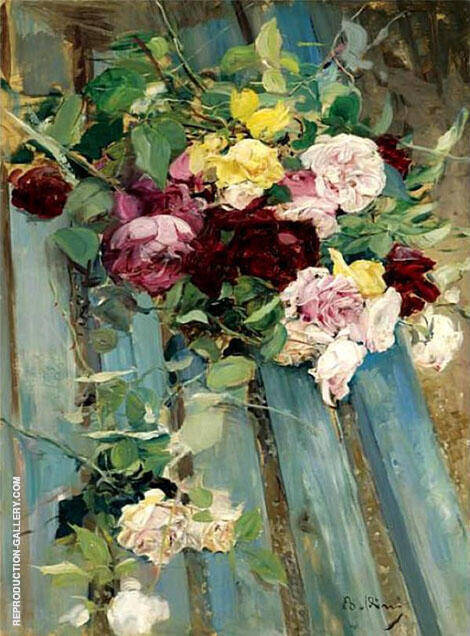 Still Life with Rose Painting By Giovanni Boldini - Reproduction Gallery