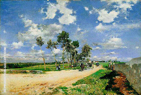 The Great Road in The Villas Combes 1873 By Giovanni Boldini