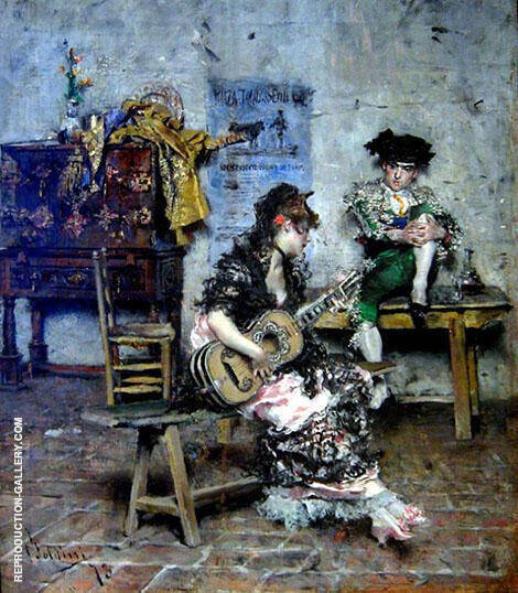 The Guitar Player By Giovanni Boldini