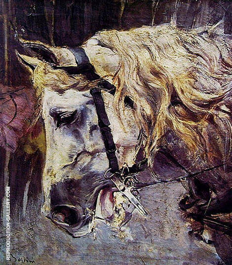 The Head of a Horse By Giovanni Boldini