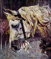 The Head of a Horse By Giovanni Boldini